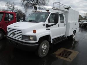2003 Chevrolet C4500 Crew Cab Utility Truck