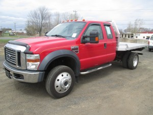 2008 Ford F-550 XLT Super Duty Flatbed Truck