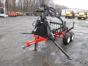 Hardy 850 Tow Behind Log Trailer With Grapple