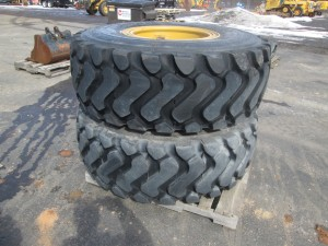 (2) Michelin XHA2 20.5R25 Radial Tires On Rims
