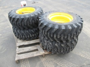 (4) Camso 12-16.5 Skid Steer Tires On Rims