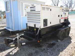 2003 Atlas Copco QAS108JD Tow Behind Generator
