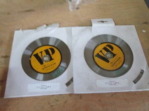 "(2) 10"" VP/DSI Diamond Tip Saw Blades"