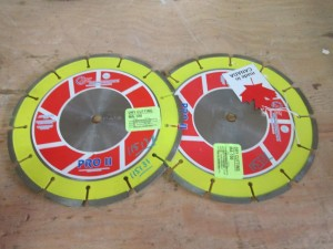 "(2) 10"" DSI Diamond Tip Saw Blades"