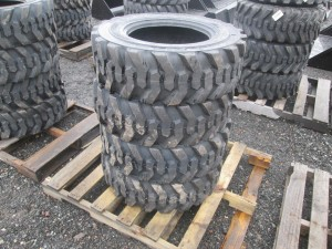 (4) Turbo 10-16.5 Skid Steer Tires