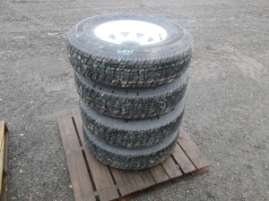 (4) Rainer ST235/80R16 Trailer Tires With Rims