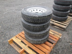 (4) Rainer ST205/75R15 Trailer Tires With Rims