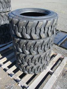 (4) 10-16.5 Skid Steer Tires