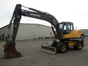 2011 Volvo EW180C Rubber Tire Excavator