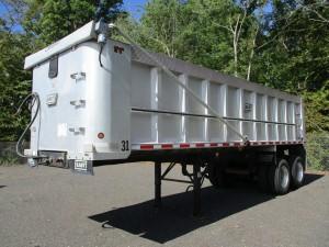 2007 East 28' T/A Aluminum Dump Trailer