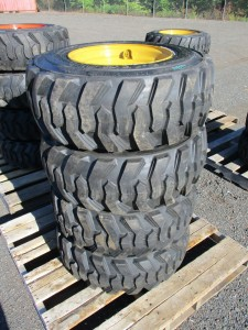 (4) 12-16.5 Skid Steer Tires