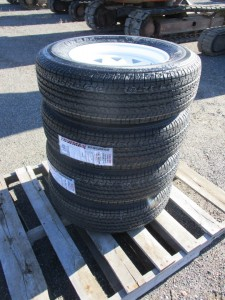 (4) Towmax 205/75R15 Trailer Tires
