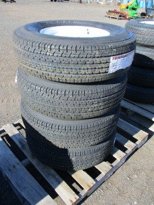 (4) Towmax 235/80R16 Trailer Tires
