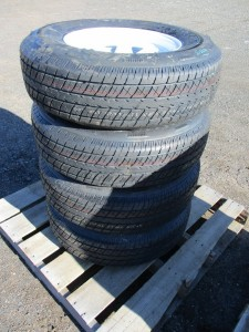 (4) Rainier 225/75R15 Trailer Tires