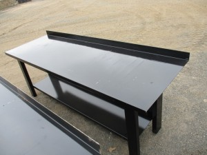 Metal Work Bench With Shelf