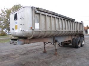 1987 Fruehauf 27' T/A Aluminum Dump Trailer