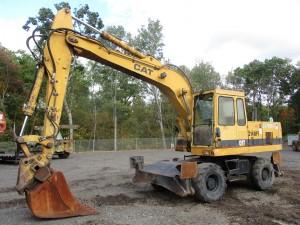 1993 Caterpillar 214BFT Rubber Tire Excavator