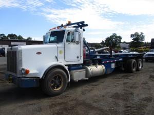 1996 Peterbilt 357 T/A Flatbed Dump Truck