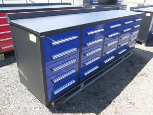 """113"""" Steel Work Bench Cabinet"""