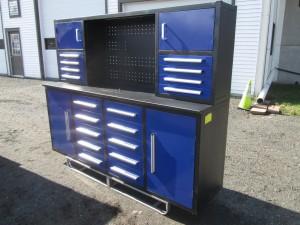 """87"""" Steel Work Bench Cabinet"""