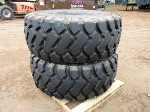 (2) Michelin 26.5R25 Radial Tires
