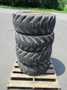 (4) Galaxy 12X16.5 Skid Steer Tires