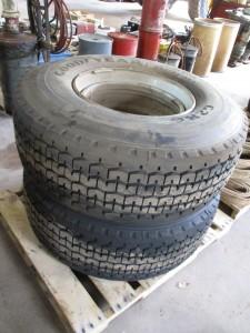 (2) Goodyear 425/65R22.5 Tires