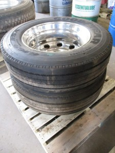 (2) Goodyear 275/70R22.5 Tires