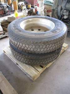 (2) Goodyear 11R24.5 Tires